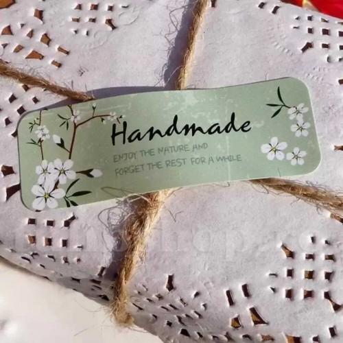 Etichete autoadezive florale Handmade 10buc.