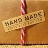 Etichete autoadezive kraft Handmade 10buc.