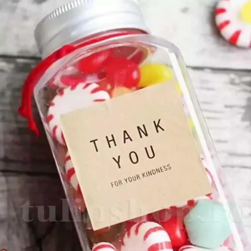 Etichete autoadezive maro pătrate Thank You 10buc.
