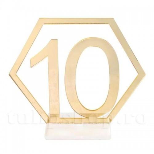 Set etichete acril nr. masa 1-10
