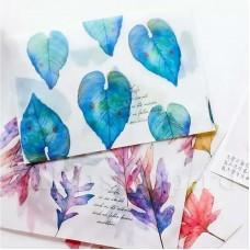 Set plicuri translucide floral 4 buc.