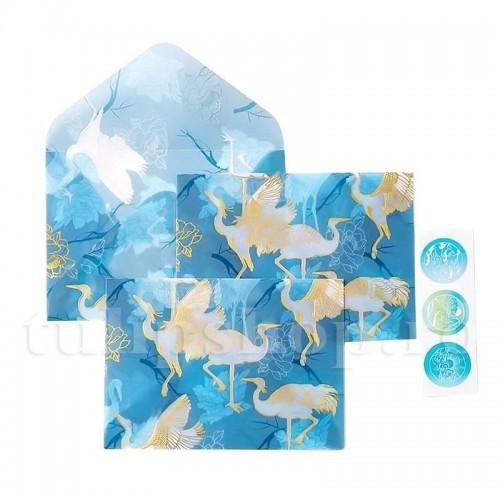 Plic translucid cocori imperiali albastru